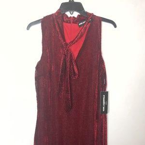 Karl Lagerfeld Red & Black Sleeveless Dot Dress